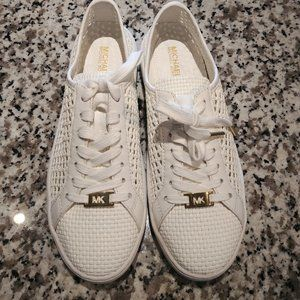 Michael Kors Olivia Perforated white/gold